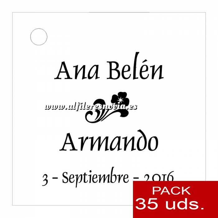 Imagen Etiquetas personalizadas Etiqueta Modelo B03 (Paquete de 35 etiquetas 4x4)