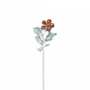 Alfileres especiales - Alfiler Especial 36 (flor tres hojas ROJO) (Últimas Unidades)