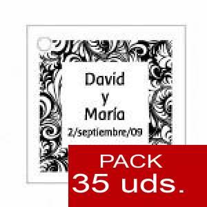 Imagen Etiquetas personalizadas Etiqueta Modelo A13 (Paquete de 35 etiquetas 4x4)
