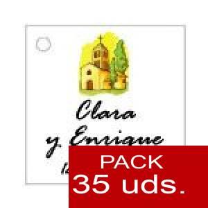 Imagen Etiquetas personalizadas Etiqueta Modelo E08 (Paquete de 35 etiquetas 4x4)