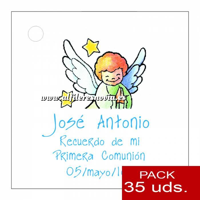 Imagen Etiquetas impresas Etiqueta Modelo E15 (Paquete de 35 etiquetas 4x4)
