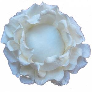 Bouquet Alfileres ROSA BLANCA DE PAPEL