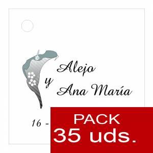 Etiquetas impresas - Etiqueta Modelo A01 (Paquete de 35 etiquetas 4x4)