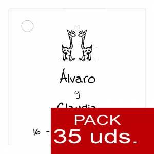 Etiquetas impresas - Etiqueta Modelo B02 (Paquete de 35 etiquetas 4x4)