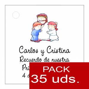 Etiquetas impresas - Etiqueta Modelo D18 (Paquete de 35 etiquetas 4x4)